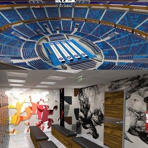 Curling Stadium and Locker Room 3D model