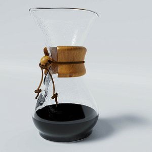 CHEMEX Pour-Over Glass Coffeemaker style 3D model