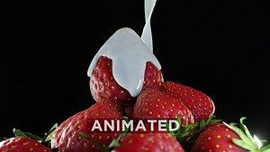 Strawberry Fluid Animated 3D model