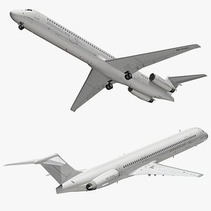 mcdonnell douglas white 3D model
