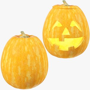 Halloween Pumpkins Collection V4 3D model