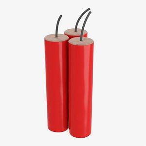 3D Fireworks firecracker 03