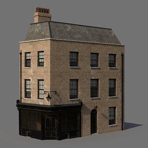 3D model london townhouse