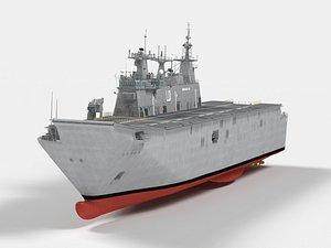 3D HMAS Adelaide Canberra Class LHD model