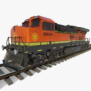 3D Train Diesel Locomotive model