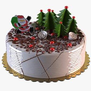 Christmas Cake 3D