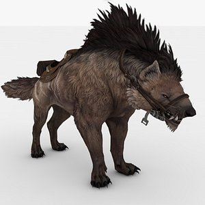 Hyena Rigged and Animated model
