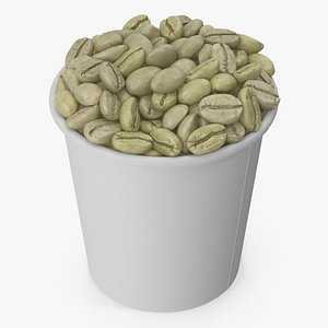 coffee cup unroasted 3D model