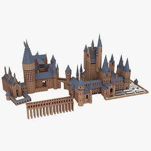 3D Hogwarts Full model   Harry Potter model