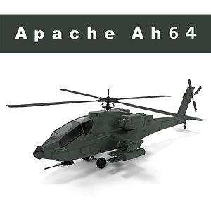 3D Apache ah 64