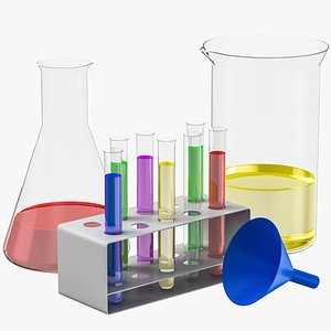 Lab Glassware Set 3D model