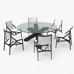 cassina dining table set 3D