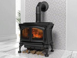 3D Granada wood stove