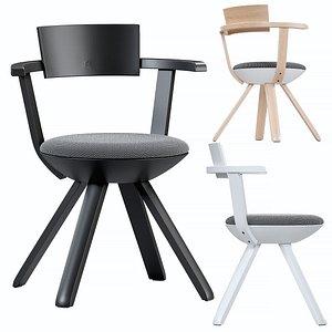 3D artek rival chair model