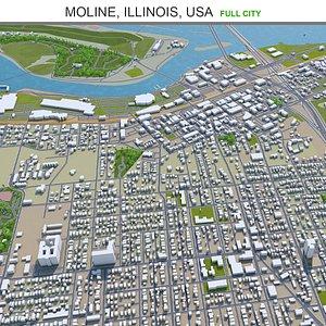 3D Moline Illinois USA model