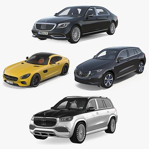 3D Mercedes Benz Cars Collection model