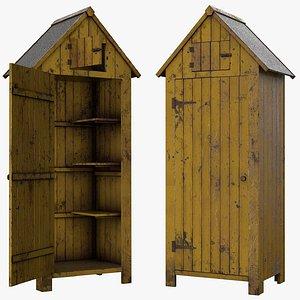 3D shed old wood model