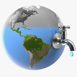 3D model stylized iron tap water