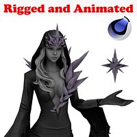 DarkIce Witch Rigged and Animated