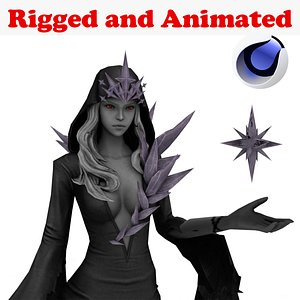 3D model DarkIce Witch Rigged and Animated