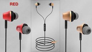 3D model earphone product
