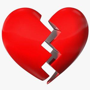 3D model Broken Heart Emoji