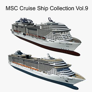 MSC Cruise Ship Collection Vol.9 3D model