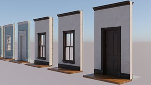 Historic Wood Windows and Doors model