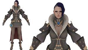 3DRT - Fantasy warrior Princesses 3D model 3D model