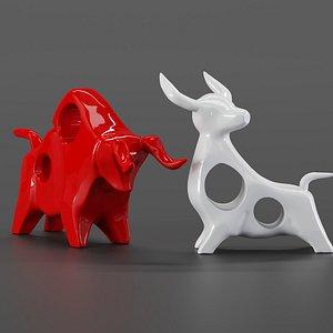 decor cow cowbull 3D model