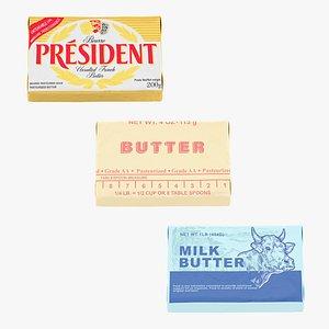 3D model Butter Set Collection