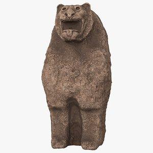 3D Hittite Lion Statue model