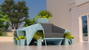3D folded seating origami