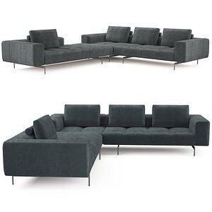 3D model boconcept amsterdam sofa