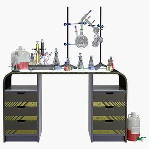 3D Lab Table Dark 2