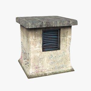 3D model head ventilation shelter