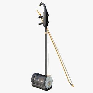 3D Erhu Musical Instrument