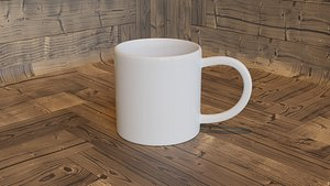 3D mug white model