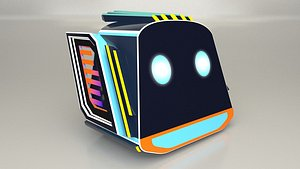 Game Character Robot Head 3D model