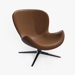3D Spinning Relaxing Modern Office Armchair - A008