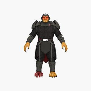 Cyber warrior monster model