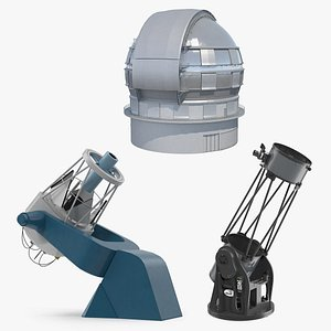 3D model observatory telescopes 2