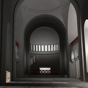 3D model medieval interior