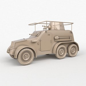 OA vz 30 Armoured Car German Clay Vray 3D