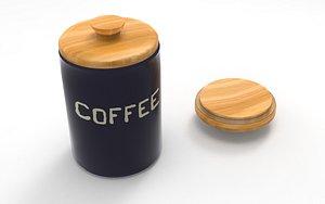 kitchen bowl coffee 3D