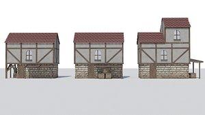 3D 3 medival model