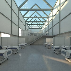corona emergency quarters exhibition hall 3D model