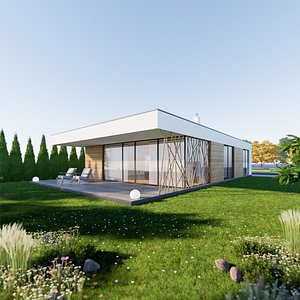 Bungalow 4 - Created with fully parametric Revit Families model