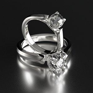 Diamond ring, wedding ring, gold, silver, diamond ring, diamond jewelry, platinum, gold jewelry, jew 3D model