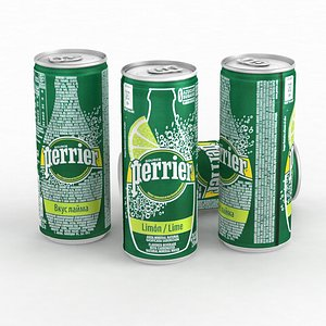 Beverage Can Water Perrier Lime 250ml 2021 3D model